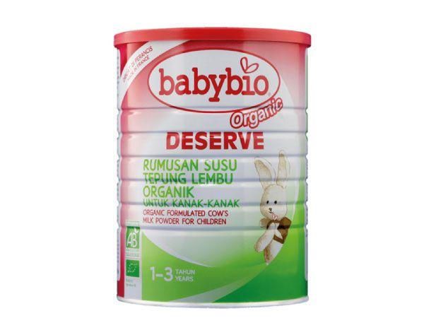 Babybio Organic Deserve Formulated Cow's Milk for Children (1-3 years) (900g)